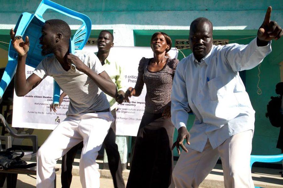 منظمة جنوب السودان للمسرح فى مسرح الشارع ،جوبا الرابع من اكتوبر 2016 تصوير حكيم جورج