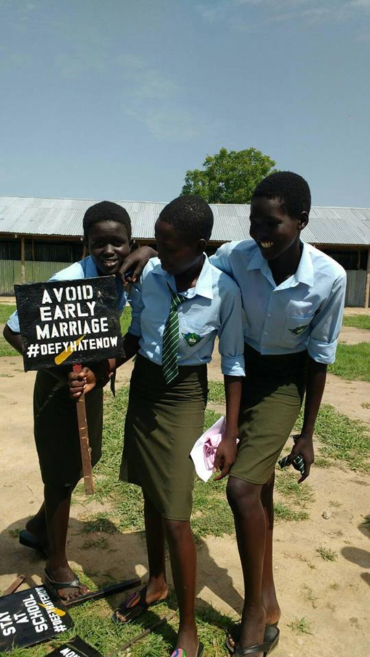 Vine High School Students #defyhatenow BOR South Sudan