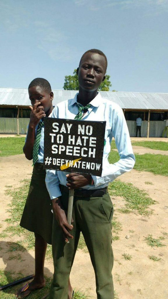 Say No to Hate Speech #defyhatenow BOR